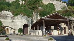 DSCF0029 glise monolithe d'Aubeterre-sur-Dronne (Charente) (Thomas The Baguette) Tags: aubeterresurdronne charente france monolith cave church tympanum glise glisenotredame saintjacques caminodesantiago sexyguy chateau cloister minimes mithra mithras cult