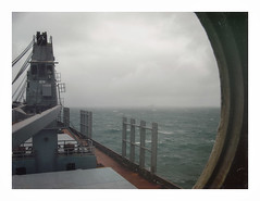 IMG_4132 (jimbonzo079) Tags: seascape bad weather wave canon powershot a710is necochea mv anchorage bulk carrier bulker cargo greek hellas marine maritime naval utm work industry industrial trip travel window world america south latin view cabin vintage old film effect digital compact art photoshop deck steel life worker people crane colour color lightroom vsco rough argentina