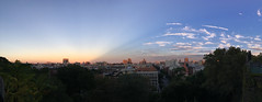 Anticrepuscular Rays Panorama (rbs10025) Tags: sunset harlem morningsideheights morningsidedrive manhattan nyc panorama