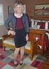 black/burgandy/dots (krislagreen) Tags: tg tgirl transgender transvestite cd crossdress skirt hose patent pumps burgandy black polkadots femme feminized feminization