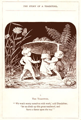 Let's shirk work and dance on top of this toadstool (katinthecupboard) Tags: vintagechildrensillustrations monotone comurray elves mushroom toadstool toad frog