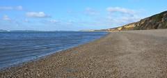 Boundaries (hapsnaps) Tags: hapsnaps hampshire meon solent 2016 winter seashore shoreline sea cliffs fawley pebbles sand water shells clouds blueskies boundary boundaries