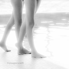 Sincronette (Giuseppe Lucia) Tags: sincronette swimmers swimming pool nuoto sincro synchro bw black white