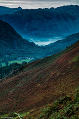 Mist in the Valley, from Cat Bells (TimGarlick) Tags: dawn derwentwater lakedistrict mist subject sunrise valley landscape uk