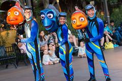 Pixar Play Parade (jodykatin) Tags: pixarplayparade disneycaliforniaadventure diver nemo marlin dory