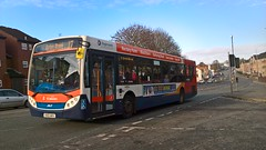 Stagecoach Scania Dennis Enviro 300 28635 KX12 AKV on service 17 to Ecton Brook (Alex Swanston's Bus Photos) Tags: outdoor road vehicle bus 28635 stagecoach e300 enviro 300 dennis scania route 2 branding 17 kx12akv off unusual