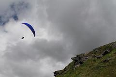 I am a leaf on the wind .... see how I soar (Willie Kalfsbeek) Tags: kalfsbeek alaska ak glider paraglider mountains clouds sky flight fly soar