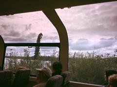 riding & sliding on the McKinley Explorer - HSS! (karma (Karen)) Tags: alaska trains domedtrain windows clouds tourists sliderssunday hss mckinleyexplorer