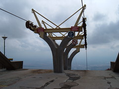 off a cliff (ztephen) Tags: bulgaria sliven lift descent topstation ohcriminey