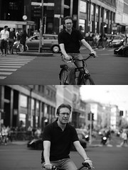 [La Mia Citt][Pedala] (Urca) Tags: milano italia 2016 bicicletta pedalare ciclista ritrattostradale portrait dittico bike bicycle nikondigitale mir biancoenero blackandwhite bn bw 89834