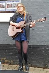 Blonde Busker (ian con) Tags: girls blondes legs boots sexy
