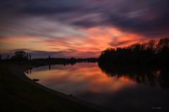 Sava sunset (Kuzz1984) Tags: sava rijeka river slavonija croatia hrvatska nikond7200 nature europe sunset longexposure clouds