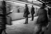 Rush hour (Henka69) Tags: street streetphoto candid commuters publictransportation stockholm monochrome motion movement train trainstation