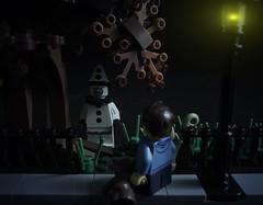 Beware of Clowns... (matticus_bricks) Tags: creepy halloween lensflare vignette dark afol clowns moc lego