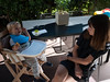 Gâteau au soleil (Dahrth) Tags: gf1 gf120 panasoniclumixgf1 lumixmicroquatretiers lumixμ43 micro43 microfourthirds raw bébé baby maman mère mother cake terrasse terrace sun soleil garden jardin