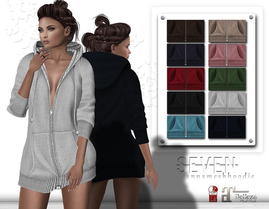 SEVEN - ANNA mesh HOODIE (  S E V E N  ) Tags  mesh fitmesh hoodie sweater 4032b63f22