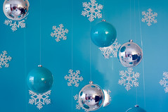 christmas card with  decoration (lyule4ik) Tags: christmas background blue card decoration ball holiday glitter abstract snowflake season winter silver snowfall greeting cold snowy white ornament new magic xmas light glow feast decorations wind design text merry flare birthday decorating snow party border eve happy bokeh year star gold bauble starry ribbon