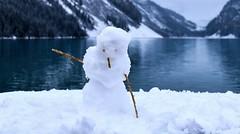 Snow Dancer (Jane Olsen ( Chardonnay)) Tags: snowman snow mountains lake water ice lakelouise alberta outdoor