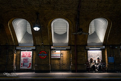 Light Reading .... (Mike Ridley.) Tags: bakerstreet underground station sonya7r2 sonyfe1635f4 contrasts light mikeridley socialmedia iphone tubestation london londonunderground