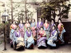 tea house women (CardCollector & HobbyPhotographer) Tags: albumenprint vintagephoto japanesewomen teahouse japan 1890