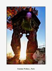 Fontaine Wallace (cowsandgirl71) Tags: panasonic paris photomatix fz200 france ville scènederue ombre lumière lumix soleil fontaine wallace eau feuilles automne couleur
