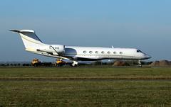 N524VE parked. (aitch tee) Tags: cardiffairport aircraft airliner jet bizjet gulfstream g550 n524ve parkedongolf cwlegff maesawyrcaerdydd walesuk tail
