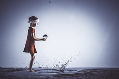 fairy tail (salas-3) Tags: mystery fairytail christmas girl splash watersplash water drop drops light beautiful playing creative creation effect feeling fineart