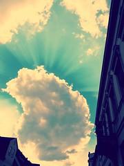 The light (Katzenpilz) Tags: light sky cloud sun sunlight clouds sundown sunray