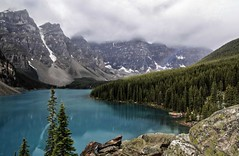 Moraine Lake rainbow (Patty Bauchman) Tags: nature landscape rainbow mountainlake albertacanada banffnationalpark morainelake canadianrockies turquoiselake