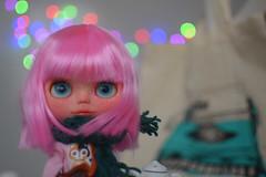 Bourjois is ready for school (Les Kawaiis!) Tags: cute toy doll handmade hobby kawaii blythe collectable mueca blythedoll plasticdoll customdoll customwork leskawaiiscustom