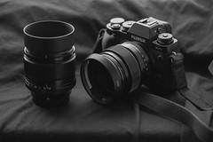 Fujifilm X-T1 with XF 23 & XF 56 with metal lens hoods (mkniebes) Tags: lens gear hood fujifilm fujinonxf23mm fujinonxf56mm