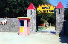 King's Castle Land Whitman MA (Edge and corner wear) Tags: park castle tourism window wall fairytale vintage booth amusement pc postcard entrance ticket tourist land roadside humpty dumpty storybook attraction