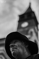 (Soif d'images) Tags: old man clock church village chapeau horloge eglise ville vieux homme priere