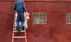 (JawshBeavz) Tags: baltimore md maryland painter red blood headless man ladder handy painting building wall brick work stock stockphotography image sale sell purchase copyright singleuse
