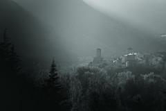 (molinete77) Tags: blackandwhite blancoynegro forest dark landscape gloomy sinister pueblo paisaje bosque pirineos tenebroso