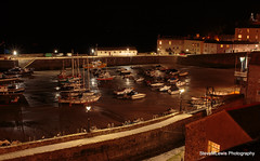 Tenby Harbour by Night (SteveMLewis) Tags: longexposure nightphotography castle wales night canon boats boat nightscape harbour canoneos pembrokeshire tenby canon700d