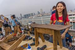 Do you like my handiwork? (antwerpenR) Tags: china hk girl cn hongkong woodwork asia southeastasia skateboard handiwork stool asean houseofvans centralpier4