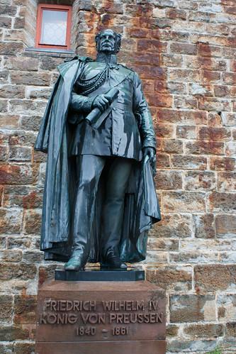 Statue de Frédéric-Guillaume IV de Prusse (1840-1861) au château de Hohenzollern