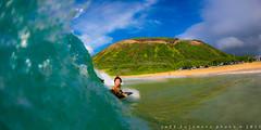 Shorebreak Ripper Kid (j . f o o j) Tags: hawaii oahu sandys sandybeach waterhousing nikkor16mmf28fisheye liquideyewaterhousing nikond610