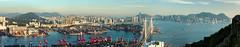 A View of Hong Kong (Black Cygnus Photography) Tags: panorama docks hongkong central kowloon icc hongkongisland victoriaharbour ifc2 tsingyi stitchedphotos blackcygnus ramblerschannel keithmulcahy january2015