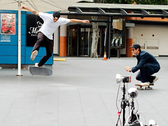Railway Square Skaters (Francis Johns) Tags: sydney broadway streetphotography skaters haymarket videography strobes railwaysquare
