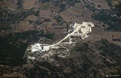 Fredericksburg Gypsum Mine (zeesstof) Tags: landscape mine flight aerialview aerial unitedairlines windowseat gypsummine zeesstof houstontophoenix