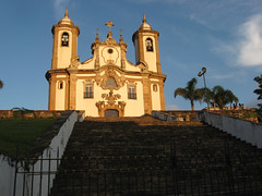 Ouro preto Church 2 (D Song) Tags: old city travel blue sunset brazil sky panorama playing mountains streets green heritage church architecture kids buildings children churches panoramic historic unesco cobblestone vista belohorizonte hilly favela ouropreto slums