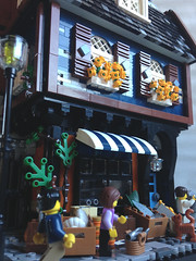 Fishmonger (Bennemans1984) Tags: old city fish town fisherman fishermen lego bricks center tudor fishmonger moc afol
