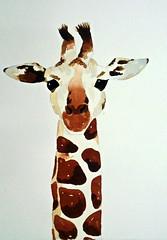 Giraffe, by Raquel - DSC01471 (Dona Mincia) Tags: cute art face animal watercolor painting paper arte cara study giraffe fofo pintura girafa aquarela gracinha