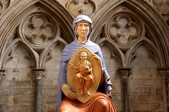 Blessed Virgin Mary of Lincoln (richardr) Tags: old city uk greatbritain england sculpture woman english church modern female europe european cathedral unitedkingdom britain contemporary mary lincolnshire lincoln hart british virginmary europeanunion midlands lincolncathedral themidlands aidanhart
