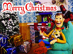 Christmas Card 2015 (RandomWatts) Tags: christmas holiday beer toy photography action ninja spiderman woody turtles drugs figure link pokemon booze zelda michelangelo playhouse legend 3rd lupin peewee tmnt psyduck 2015 jigen deadpool revoltech