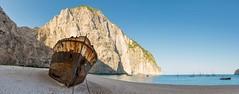 Smugglers Cove (Andrew Gibson.) Tags: greece sonya7ii sonyilce7m2 zakynthos zante bluecaves smugglerscove shipwreck sea cave water sand beach postcard scenic ocean