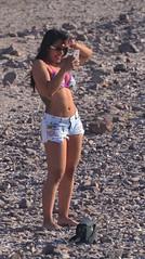 High Times? (Ctuna8162) Tags: beach chile cutoffs jeanshorts sunglasses cellphone photographer