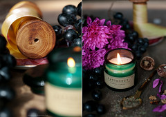 it's autumn harmony (Yulchonok) Tags: canon candle wood diptych happiness flowers postcard stilllife